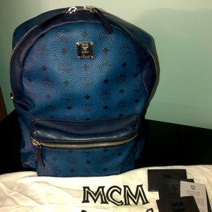 MCM Backpack in Visetos Royal Blue Limited Edition